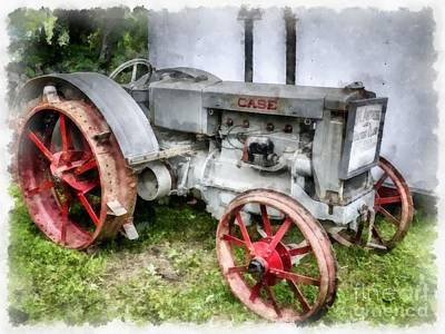 John Deere Wall Art - Photograph - 1935 Vintage Case Tractor by Edward Fielding