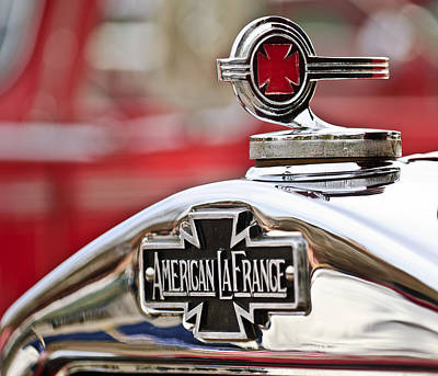 Hoodies Photograph - 1936 American Lafrance Fire Truck Hood Ornament by Jill Reger