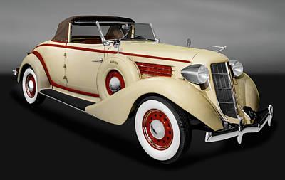 Photograph - 1936 Auburn 654 Cabriolet  -  1936654auburncabrioletgry171778 by Frank J Benz