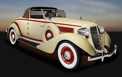 Photograph - 1936 Auburn 654 Cabriolet  -   1936auburn654cabriolet171778 by Frank J Benz