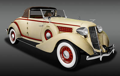 Photograph - 1936 Auburn 654 Cabriolet  -  1936auburncabriolet654fa171778 by Frank J Benz