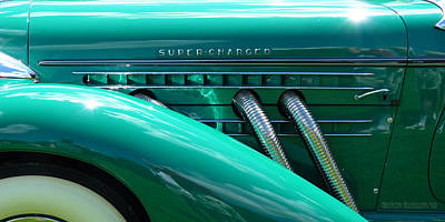 Glazier Photograph - 1936 Auburn Speedster In Electric Green by Garth Glazier