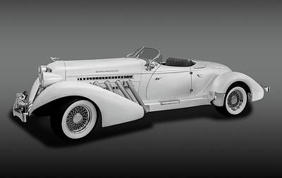 Photograph - 1936 Auburn Supercharged Speedster Convertible  -  1936auburnsupcgdspeedfa170552 by Frank J Benz