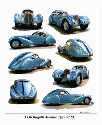 Digital Art - 1936 Bugatti Atlantic Type 57 Sc by RG McMahon
