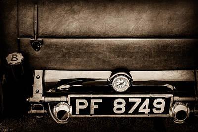 1936 Bugatti Type 57s Corsica Tourer License Plate -0067s Print by Jill Reger