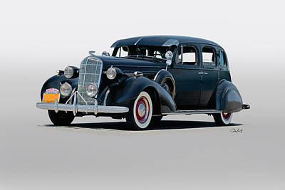 1936 Buick Series 40 Sedan Art Print