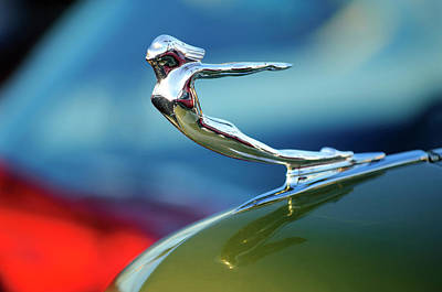 1936 Cadillac Hood Ornament 2 Art Print by Jill Reger