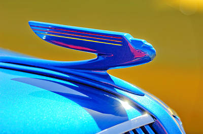 1936 Chevrolet Hood Ornament Art Print by Jill Reger