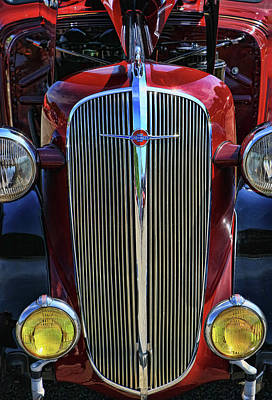 Photograph - 1936 Chevrolet Master Front Grill by Allen Beatty