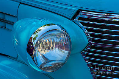 Photograph - 1936 Chevy Coupe Headlight And Grill by Rick Bures