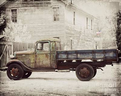 Photograph - 1936 Chevy High Cab -2 by Kathy M Krause