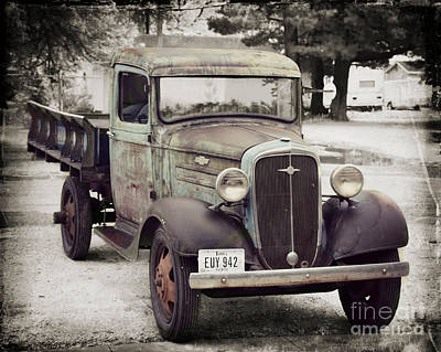 Photograph - 1936 Chevy High Cab by Kathy M Krause