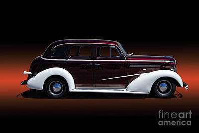 Chev Deluxe Photograph - 1936 Chevy Master Deluxe by Nick Gray