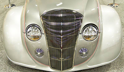 Barrett Jackson Wall Art - Photograph - 1936 Chrysler Airflow by Wayne Vedvig