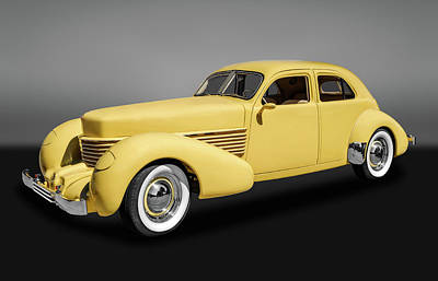 Photograph - 1936 Cord Westchester Sedan  -  36cordgry9120 by Frank J Benz
