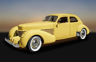 Photograph - 1936 Cord Westchester Sedan  - 1936cordwst9120 by Frank J Benz