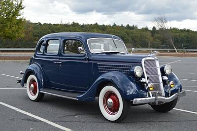 Photograph - 1936 Dark Blue Ford Automobile by rd Erickson