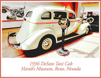Photograph - 1936 Desoto Taxi Cab by A Gurmankin