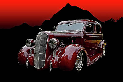 Digital Art - 1936 Dodge 4 Door Sedan by Richard Farrington