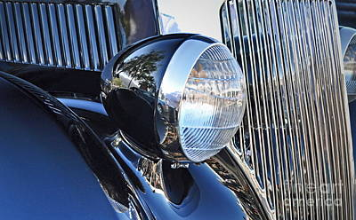 Chrome Grill Photograph - 1936 Ford 2dr Sedan by Gwyn Newcombe