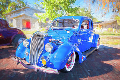 Photograph - 1936 Ford 5 Window Coupe 001 by Rich Franco