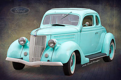 Wheels Photograph - 1936 Ford Coupe by J Darrell Hutto
