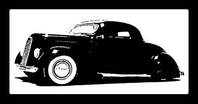 Digital Art - 1936 Ford Custom Tee by David King