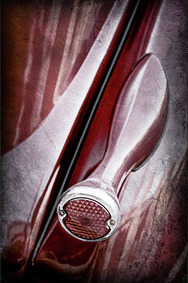 1936 Ford Photograph - 1936 Ford Phaeton Taillight -0271ac by Jill Reger