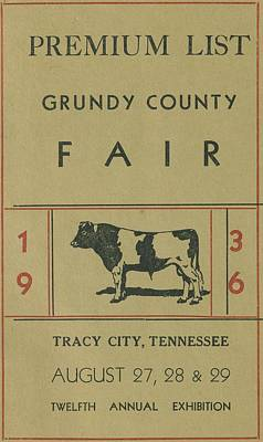 1936 Grundy County Fair Catalog Cover Art Print by Cody Cookston