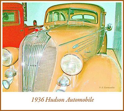 Photograph - 1936 Hudson Automobile by A Gurmankin
