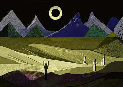 Digital Art - 1936 - Arrival Of The Eclipse 2017 by Irmgard Schoendorf Welch
