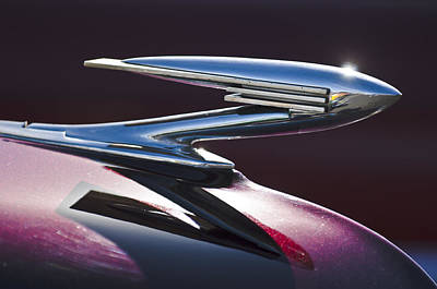 1936 La Salle Hood Ornament Art Print by Jill Reger