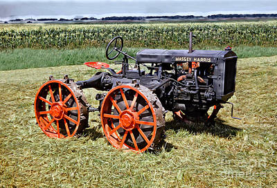 Digital Art - 1936 Massey Harris Model 15/22  In A Nebraska Cornfield by Wernher Krutein
