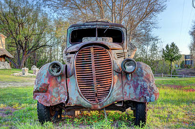 Photograph - 1936 Model 511 1/2 Ton Stakebed Farm Truck Near Charlevoix, Mic by Peter Ciro