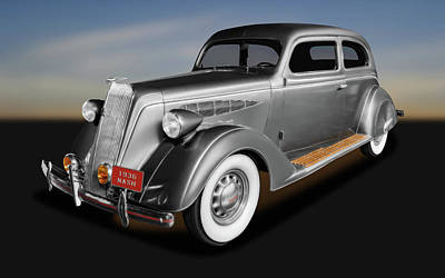 Photograph - 1936 Nash Ambassador 2 Door Coupe  -  1936nashambassador171921 by Frank J Benz