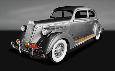 Photograph - 1936 Nash Ambassador 2 Door Coupe  -  1936nashambassgry171921 by Frank J Benz