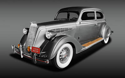 Photograph - 1936 Nash Ambassador 2 Door Coupe  -  36nashambassadorfa171921 by Frank J Benz