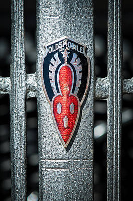 Photograph - 1936 Oldsmobile Emblem by Jill Reger