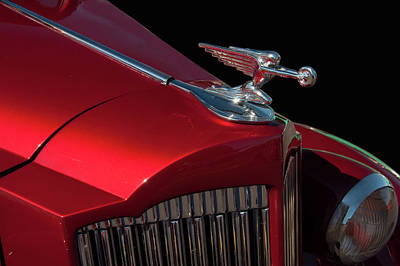 Photograph - 1936 Packard Flying Lady Hood Ornamant by Chris Flees