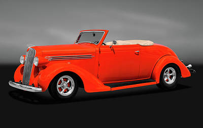 Photograph - 1936 Plymouth Convertible  -  1936convertibleplymouthgry170970 by Frank J Benz