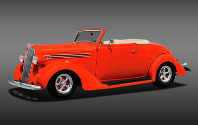 Photograph - 1936 Plymouth Convertible  -  1936plyconvertiblefa170970 by Frank J Benz