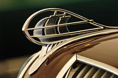 Hoodies Photograph - 1936 Plymouth Sedan Hood Ornament by Jill Reger