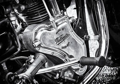 Photograph - 1936 Velocette Mov 250cc Engine by Tim Gainey