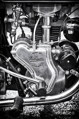 Photograph - 1936 Velocette Mov 250cc Motorcycle Engine by Tim Gainey