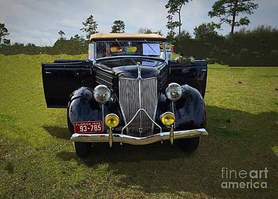 Photograph - 1936 Vintage Ford by Anne Sands