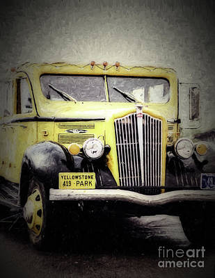 Photograph - 1936 White Model 706 Tour Bus by Bitter Buffalo Photography