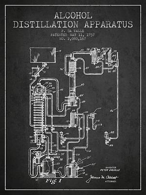 Whiskies Digital Art - 1937 Alcohol Distillation Apparatus Patent Fb79_cg by Aged Pixel