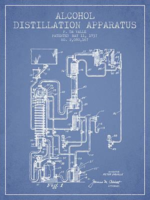 Whiskies Digital Art - 1937 Alcohol Distillation Apparatus Patent Fb79_lb by Aged Pixel
