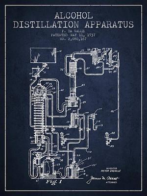 Whiskies Digital Art - 1937 Alcohol Distillation Apparatus Patent Fb79_nb by Aged Pixel