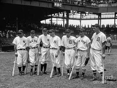 Joe Dimaggio Photograph - 1937 All Star Baseball Players by Jon Neidert